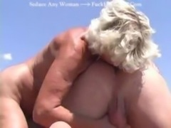 Blonde Old Granny has Fun on th ... free