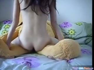 Teen Rides A Teddybear free