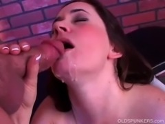 Beautiful brunette MILF gives a ... free