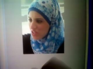 Cumshot Tribute to Arab slut Nasira