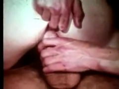 Redhead gets double penetrated by two men