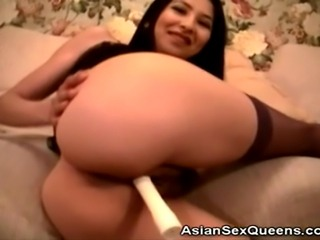We have this hot stockinged asian babe in this clip as she brings out her...
