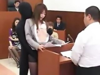 Japanese Babe Lawyer Gets Fucked By A Invisible Man