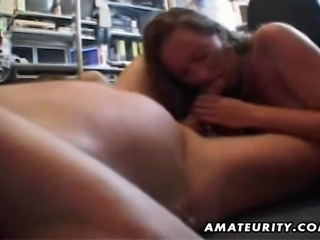 A nasty amateur housewife homemade hardcore action in the office ! Blowjob...