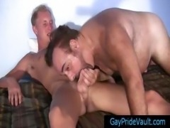 Blonde twink getting his dick sucked by old gay bear part5