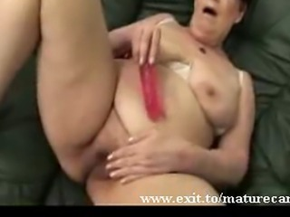 Dora. BBW Widow and granny. Having fun on my couch with the dildo I just...