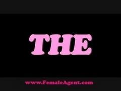 FemaleAgent Shy hunk is devoured free