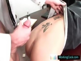 Hot office stud getting his rectum stretched and jizzed By Workingcock part5