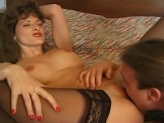Classic hardcore scene with a naughty MILF getting her pussy drilled in a car.