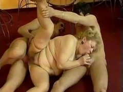 Fat grandma gets her hairy ass fucked part6