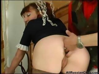 Russian Redhead Goddess- Anal Love  russian cumshots swallow