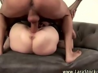 Horny mature bitch in stockings