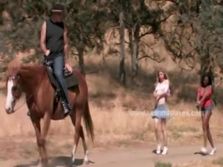 Women slaves at ranch tied free
