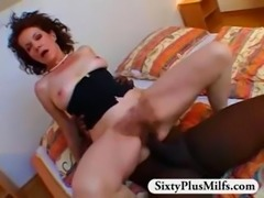 Giant hairy almost sixty year old slut