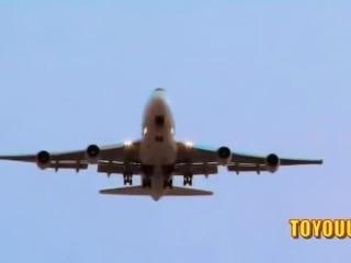 Horny Pilot Fucks Sexy Stewardess Madelyn Marie