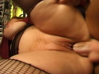 BBW busty mature woman gets a hard cock in her pussy and between her huge tits.
