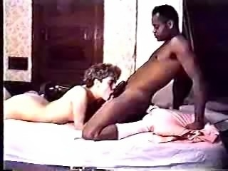 Mature amateur taking a hard black cock up her pussy