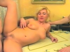 Getting her pussy pounded and sucking a hard cock at the same cock is a great...
