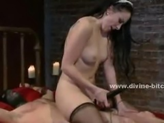 Beautifull brunette maid turns out to be a pervert sexy mistress