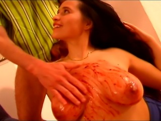 This cock hungry MILF just loves playing messy - LITERALLY!!!