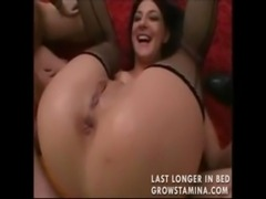Two whores share his cock and g ... free
