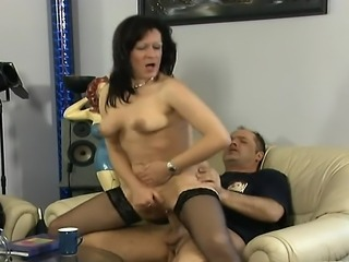 Filthy hardcore action with a BBW big boobed mature brunette hungry for a...