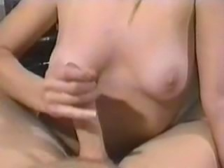 blond rave chick gives handjob