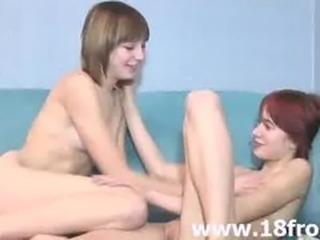 European 18yo lezzies making love