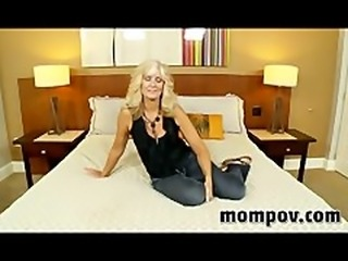 Horny housewife enjoys my cock up inside her