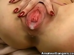 We have this hot amateur redhead babe in this raunchy clip. Watch as our stud...