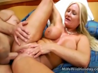 We have this hot busty milf babe named Roxy on this clip as she is banged hard by her horny stud. Watch as she enjoys that cock rocking her juicy pussy in this steamy scene