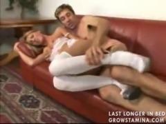Tattooed slut in stockings and  ... free