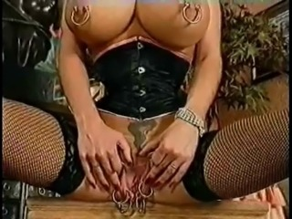 Monster Vagina. Extreme piercing. Fisting