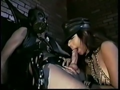 Vintage black leather kink action 2