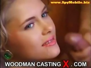 Casting of beautiful russian babe