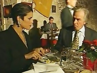 Elegant Italian Mature cheating husband on restaurant bathroom