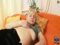 Hairy twat grandma in stockings Kinky sex tool fuck