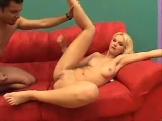 Blonde Latina anal and facial