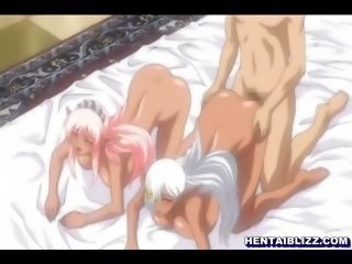 Two Elfs hentai ghetto with bigboobs sharing a stiff dick
