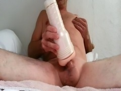 Swiss boy with fleshlight