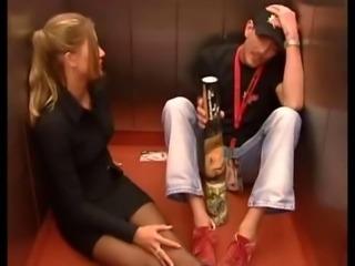 Hot sex in elevator