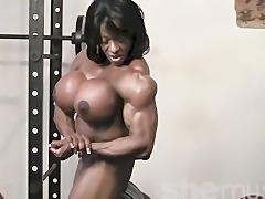 Ebony Female Muscle