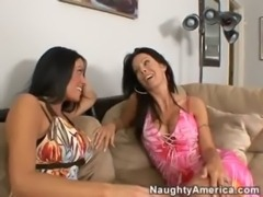 Two Sexy Milfs Share A Young Cock free