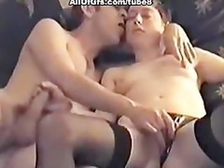 Couple pleasing each other with hand