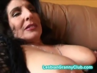 Horny granny brunette masturbat ... free