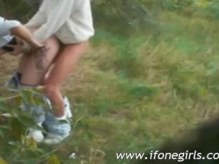 Naughty bond teen sucking and then getting fucked by her bf in the woods he...