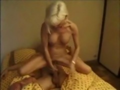 Stepmother fucking son while hu ... free