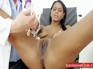 Hot Latina Lexi goint to be gyno checked up at clinic hospital, you will see...