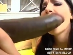 Huge black cock inside Rebeca L ... free