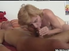 Mother In Law Finds Him Masturbating And Offers Her Pussy mature mature porn...